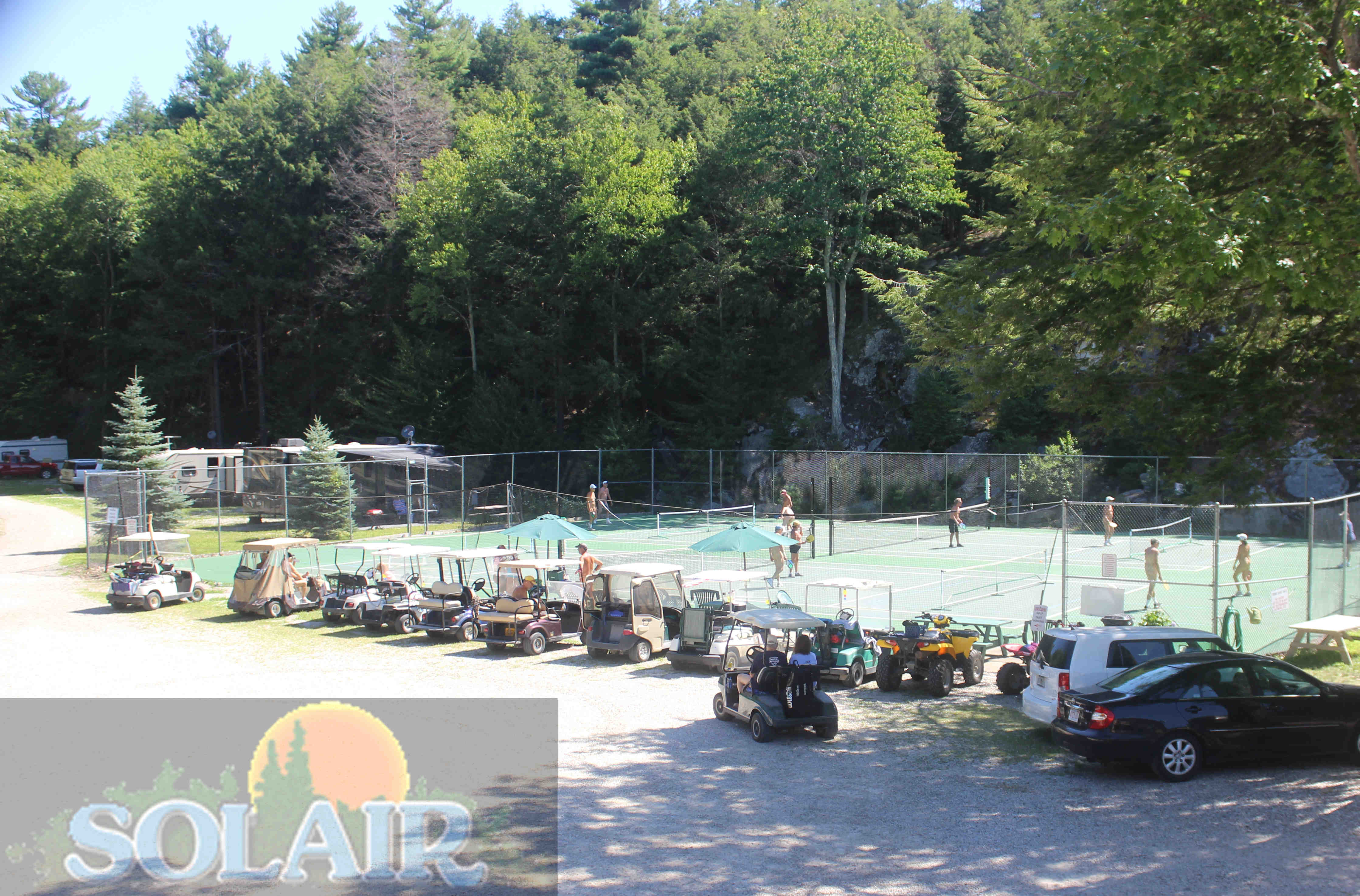 Pickleball and tennis courts